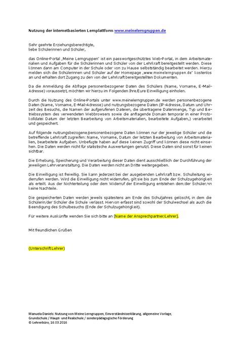 Musterbrief K Ndigung Schule vorlage einverst 228 ndniserkl 228 rung eltern ausbildung various vorlagen