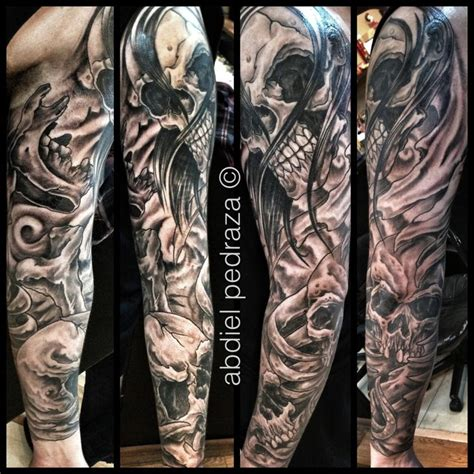 skull sleeve tattoos designs the world s catalog of ideas