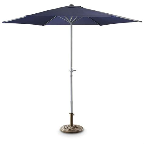 Blue Patio Umbrella 9 Patio Umbrella Navy Blue 180063 Patio Umbrellas At Sportsman S Guide