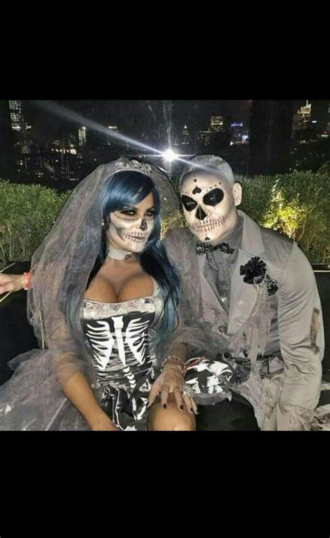 dead bride  groom couples halloween costume couple