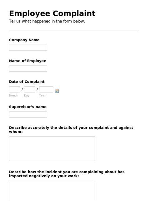 complaint form template cblconsultics tk