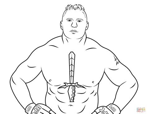 wwe brock lesnar coloring page free printable coloring pages