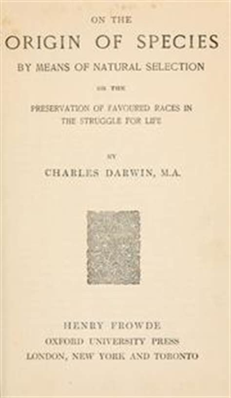 on the origin of species books on the origin of species by means of selection