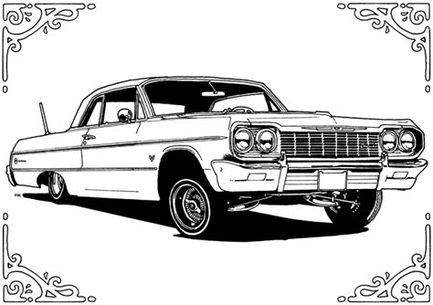 coloring pages of lowrider cars free coloring pages of low rider cars