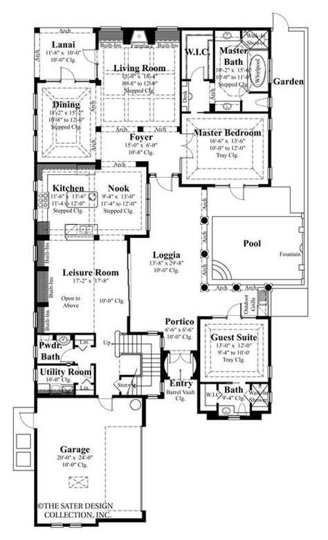 salcito home plan styles sater design collection plans