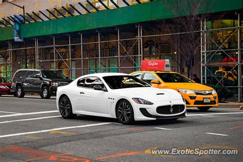 maserati granturismo spotted in manhattan new york on 03