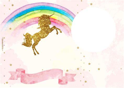 Imagenes De Unicornios Gratis | fiesta de unicornios invitaciones para imprimir gratis