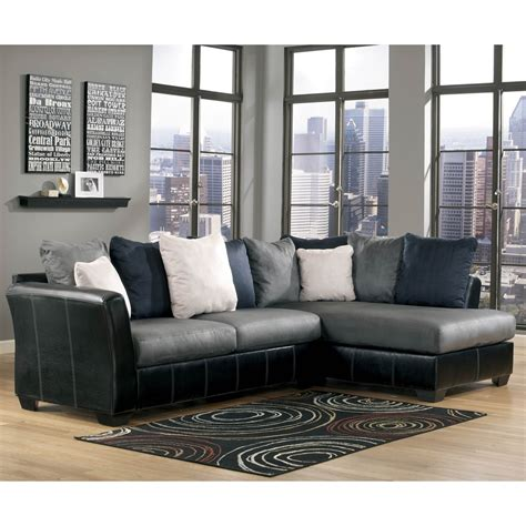 ashley chaise sectional ashley masoli 2 pc sectional laf sofa raf chaise sofas