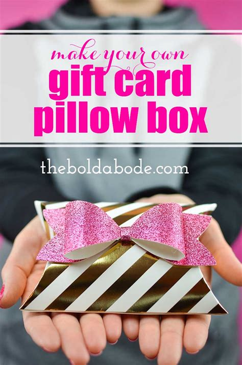 Gift Card Pillow Box - make your own gift card pillow box