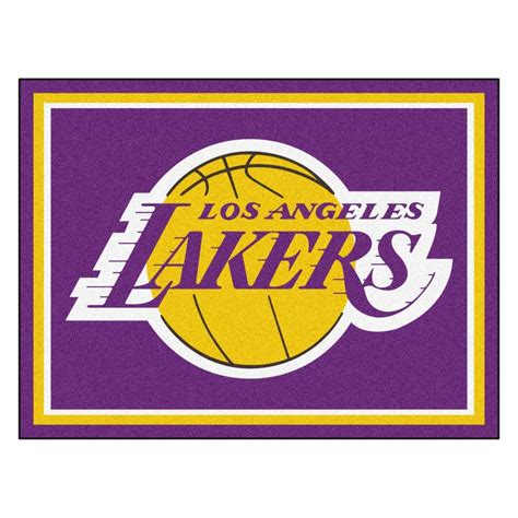 lakers area rug fanmats nba los angeles lakers purple 8 ft x 10 ft indoor area rug 17455 the home depot