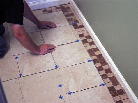 Installing Tile In Bathroom How To Install Bathroom Floor Tile How Tos Diy