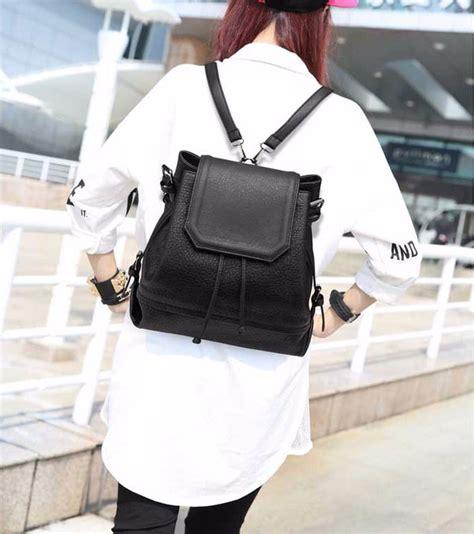 Tas Ransel Korea Backpack Mustache Merah jual tas ransel wanita murah harga terjangkau jual aksesoris wanita murah kalung