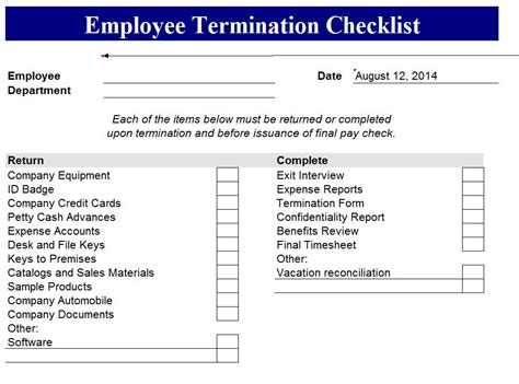 termination checklist template index of wp content uploads 2014 08