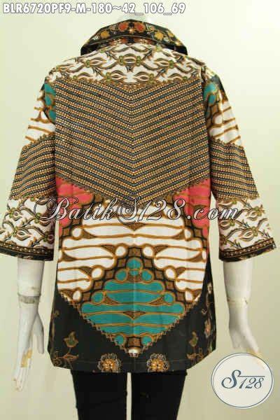 Dress Cocok Buat Ke Kantor balero batik motif klasik busana batik modis berkelas