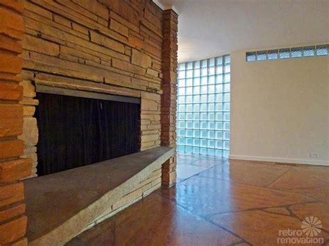 mid century modern fireplace interior design