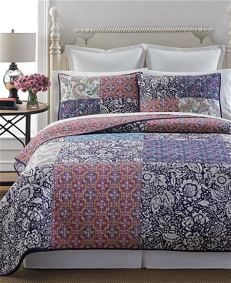 Martha Stewart Patchwork Quilt - martha stewart collection potpourri patchwork quilt and