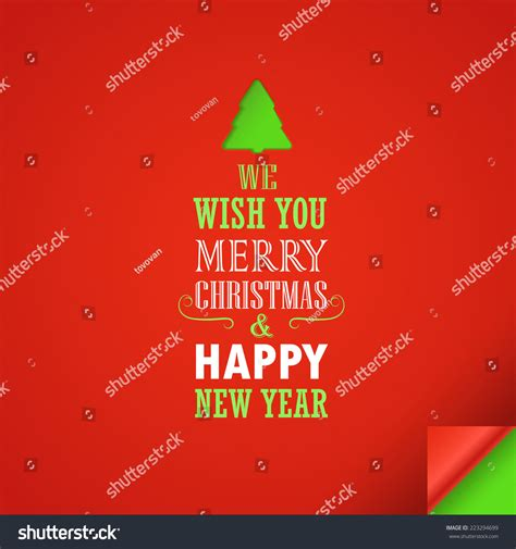 merry christmas and a happy new year greeting card design