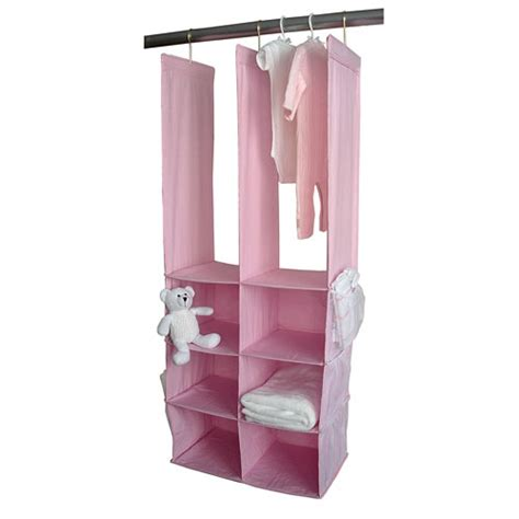 Pink Closet Organizer by Seed Sprout Closet Organizer In Pink