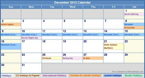 december 2012 calendar uk printable december 2012 calendar with holidays as picture