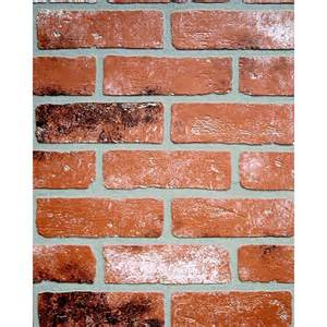 interior wall paneling home depot 1 4 in x 48 in x 96 in kingston brick wall panel 278844