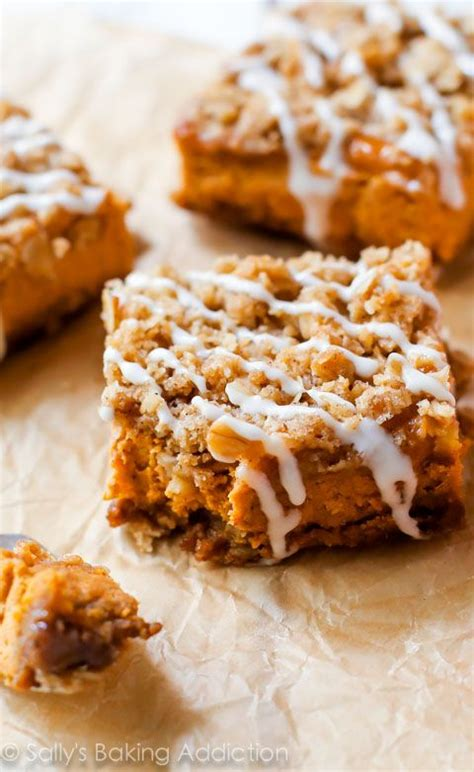 pumpkin bars with streusel topping pumpkin streusel bars recipe seasons streusel topping
