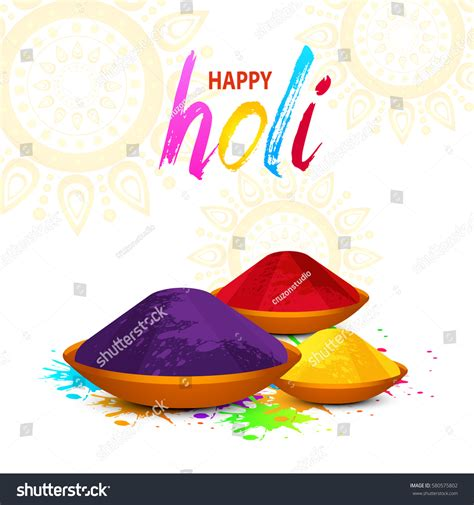 happy holi vector elements card design stock vector