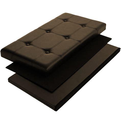 aufbewahrungsbox lederoptik sitzhocker sitzbank 80x40x40cm ottomane aufbewahrungsbox