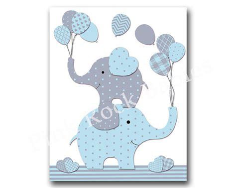 Elephant Nursery Wall Decor Blue Elephant Nursery Wall Baby Boy Nursery By Pinkrockbabies