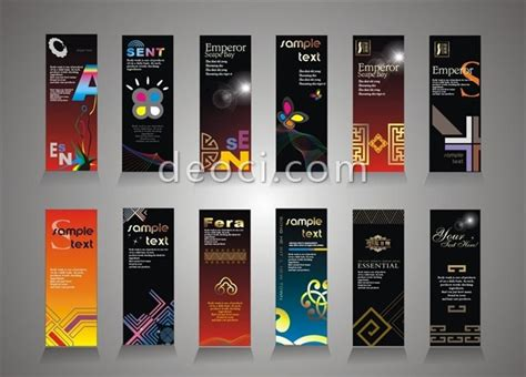 banner stand design template vector multi color display
