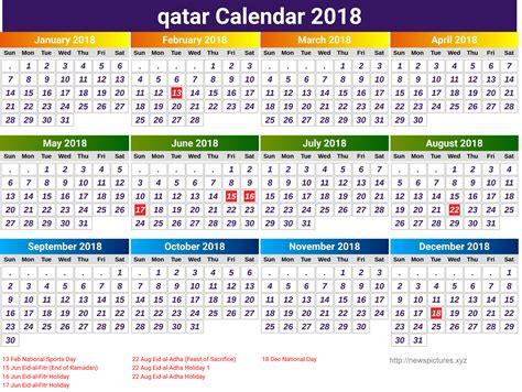 printable calendar 2018 qatar unique holiday calendar qatar calendar