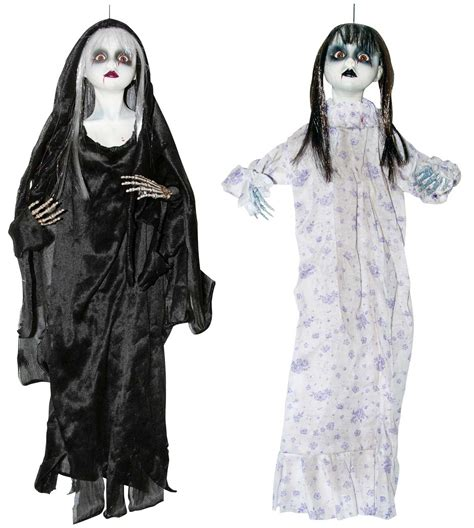 black doll hanging hanging bloody doll scary spooky haunted house