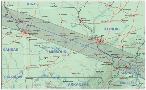 map missouri and illinois missouri and illinois eclipsophile