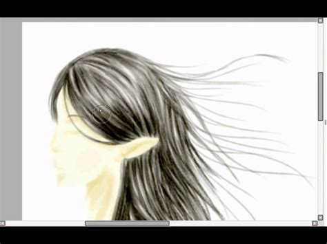 paint tool sai drawing hair realistic hair in easy paint tool sai draw a hylian