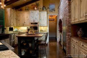 French Kitchen Decor by French Country Kitchen With Antique Island Cabinets Amp Decor