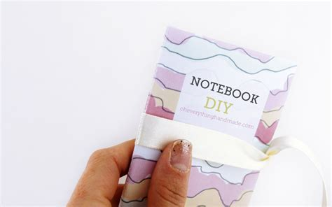 How To Fold Notebook Paper Into A - diy printable notebook oheverythinghandmade