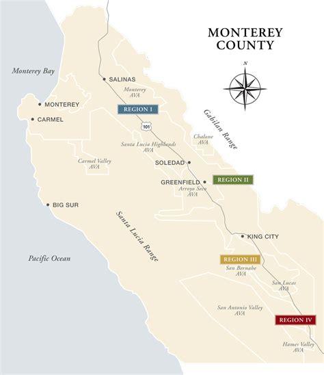 california map monterey county about esser vineyards