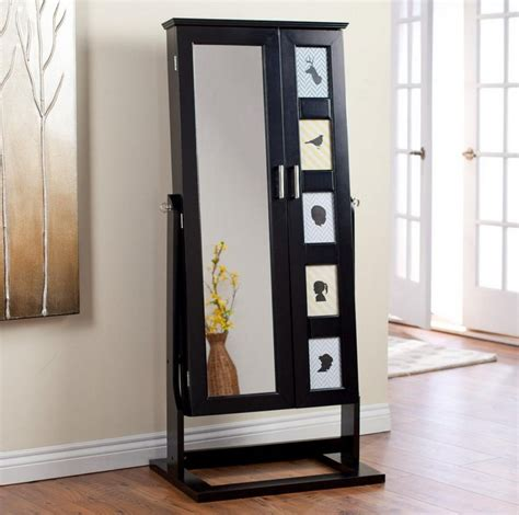 Black Jewelry Armoire Mirror by Black Jewelry Armoire Mirror Interesting Ideas For Home