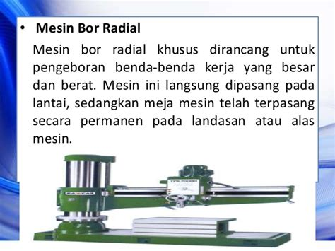 Mesin Bor Radial mesin perkakas