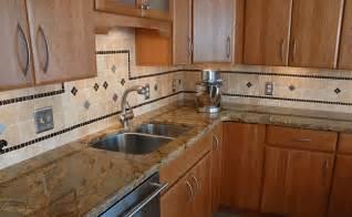 Honey Oak Kitchen Cabinets Wall Color by Travertine Backsplash For Kitchen Designs Backsplash Com