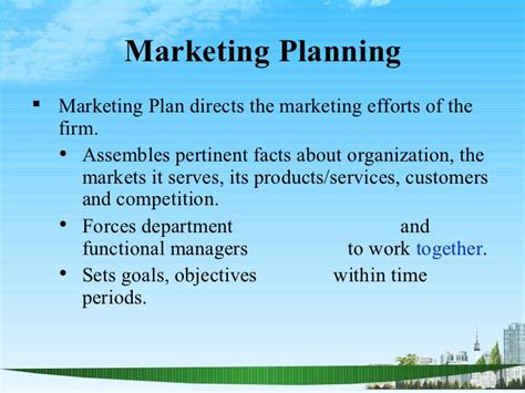 Mba Notes On Marketing Plan by The Marketing Plan Ppt Bec Doms Bagalkot Mba