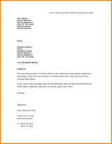 block business letter sle 4 business letter sle block style buyer resume