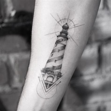 small lighthouse tattoo 40 lighthouse designs tattooblend