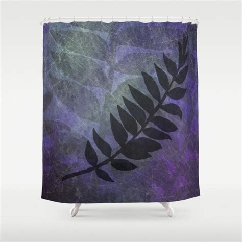 purple shower curtain fabric purple grunge with foliage fabric shower curtains