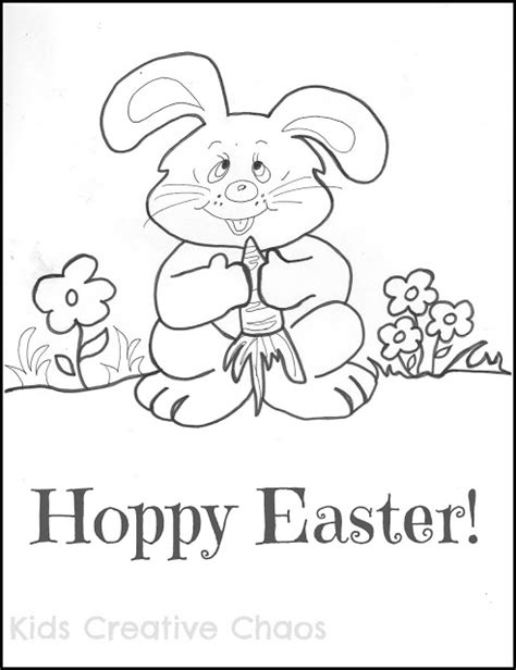 easter bunny coloring page printable for kids kids