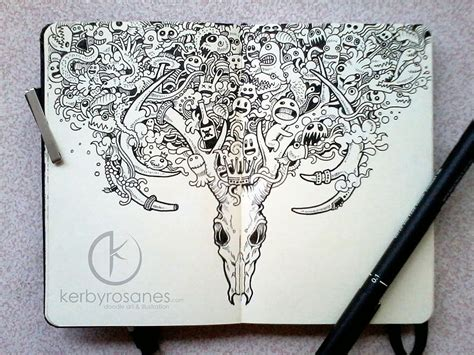 awesome pen doodles impressively detailed pen doodles by kerby rosanes bored