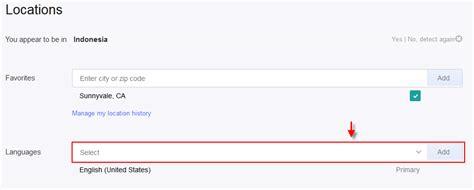 email yahoo bahasa indonesia cara mengganti bahasa akun email yahoo google terbaru