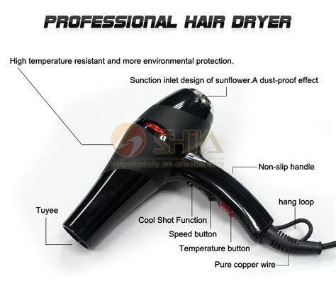 Hair Dryer Components speed ac salon 2200w ceramic ironic fan for steam