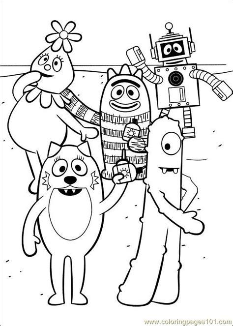 yo gabba gabba 15 coloring page free miscellaneous