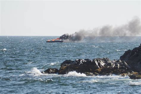 boat lettering nanaimo boat catches fire leading to rescue at sea in nanaimo