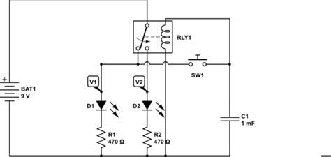 capacitor discharge circuit for solenoid led question about flow with relay and capacitor make electronics charles platt exp 8